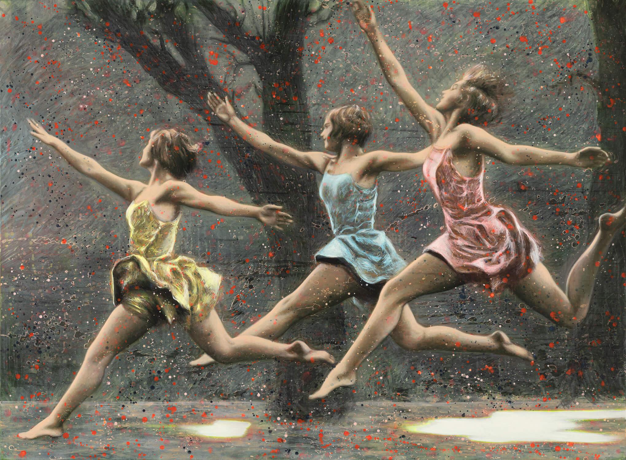 »Daughters« / 2020 / Acryl auf Leinwand / 170cm x 230cm